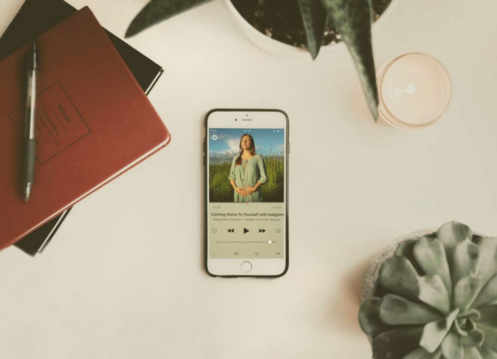 feminine center meditation on iphone